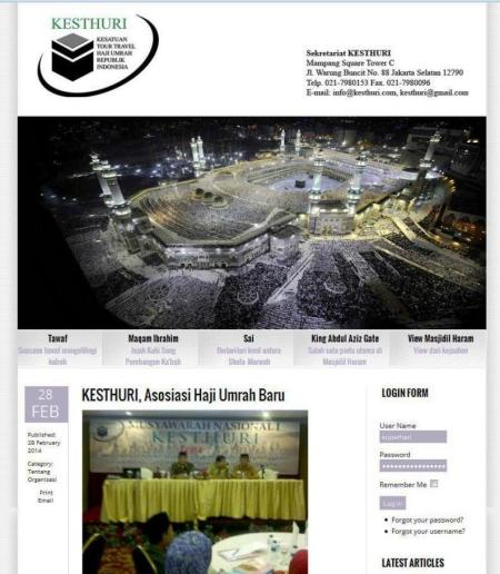 Website Kesatuan Tour Travel Haji Umrah Republik Indonesia